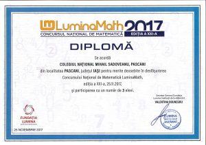 diploma LuminaMath 2017